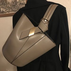 Calvin Klein Karsyn Grey Convertible Hobo Backpack
